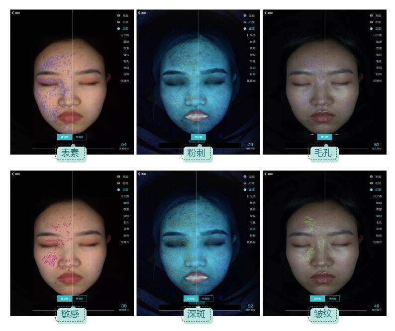 2、直观看清肌肤情况
